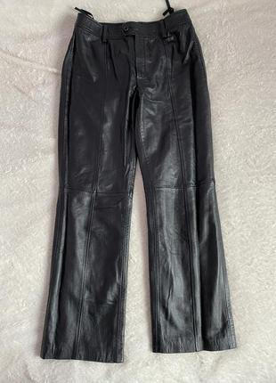 Классические брюки натуральная кожа oui  р. м