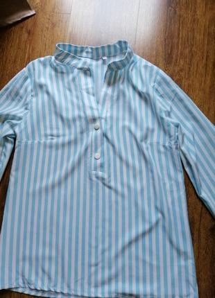 Сорочка біло-голуба