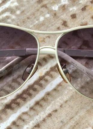 Солнцезащитные очки polaroid в белой оправе с камушками в подарок 🎁😉