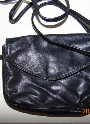 Кожаная стильная сумочка сумка италия genuine.