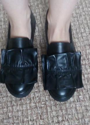 Кожаные лоферы, ботинки, туфли 38 р.
