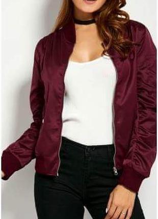 Бомбер-куртка ветровка спортивная кофта от asos, марсала, бургунди, бордовый