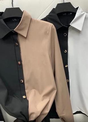 Блузка женская двух цветах. в разных вариантах