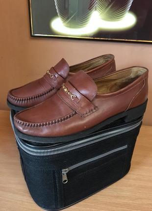 Кожанные мужские туфли лоферы размер 40 41