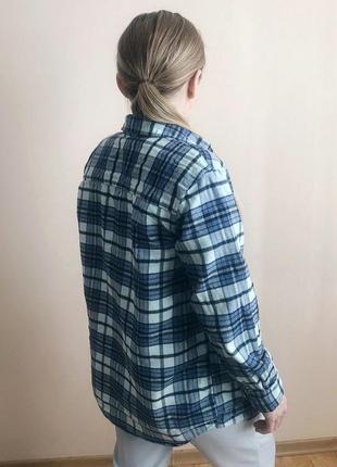 Стильная рубашка оверсайз в клетку / сорочка в клітинку