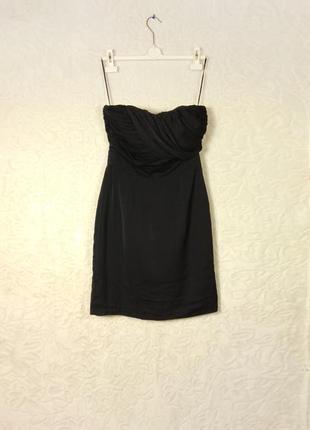 Шикарное черное платье h&m сукня плаття вечернее бюстье футляр 10 8 36 38 с м s