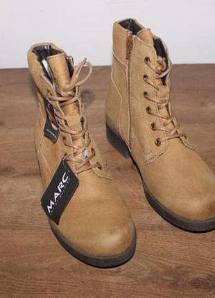 Кожаные зимние ботинки marc (мембрана gore-tex, 36 размер)