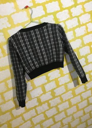 Актуальный укороченный свитер primark в клетку джемпер, свитшот кроп топ4 фото