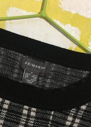 Актуальный укороченный свитер primark в клетку джемпер, свитшот кроп топ5 фото