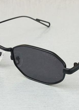 Versace очки солнцезащитные узкие модные узкие восьмигранные черные