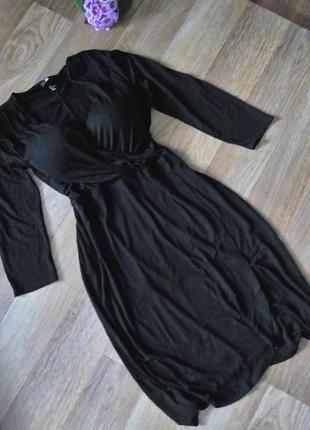 Платье черное 50 52 размер миди бюстье футляр h&m топ лук скидка