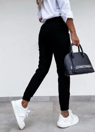 Брюки-джоггеры женские джинс-бенгалин, три цвета3 фото