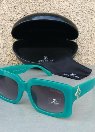 Louis vuitton очки женские солнцезащитные прямоугольные бирюзовые с градиентом