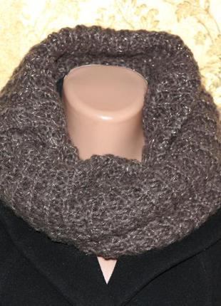 Вязанный хомут, шарф, с люрексом, вещи в наличии💚+скидки, заходите💚