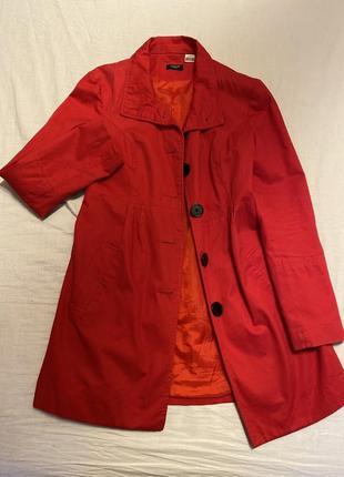 Красный плащ с завышенной талией la redoute m/l