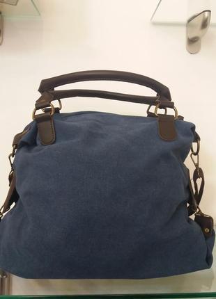 Стильная джинсовая спортивная сумка