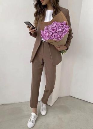 Женский деловой стильный костюм-двойка