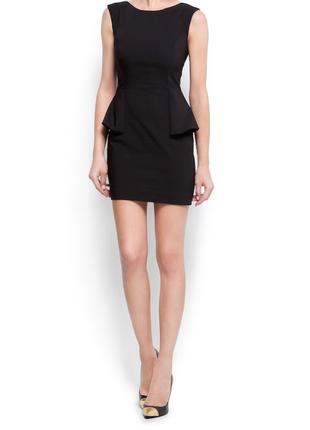 Красивое чёрное платье mango