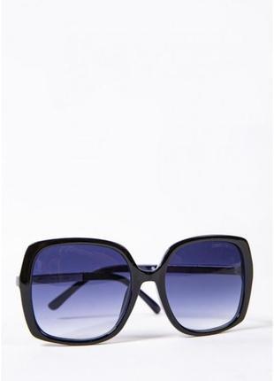 Очки женские солнцезащитные синие с черной оправой 154r2719