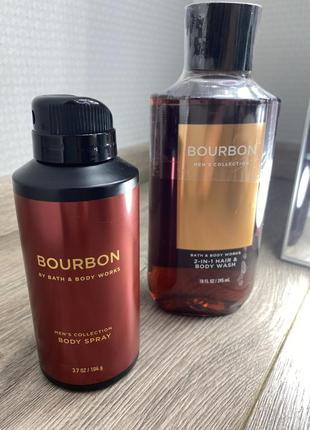 Мужской набор bourbon bath&body works