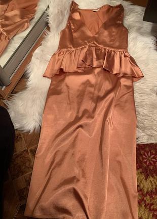 Платье, платье атласное, шелковое