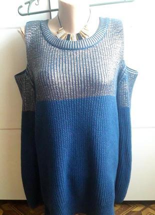 Нарядный свитерок с блестящим напылением