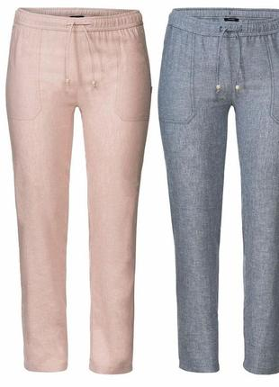 Стильные льняные брюки, германия ( евро 46,48,50)