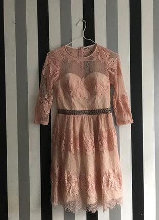 Asos платье кружевное asos