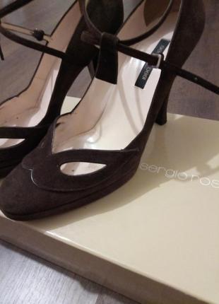 Туфли замшевые sergio rossi