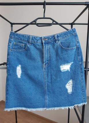Коротка джинсова спідниця house (denim wear)