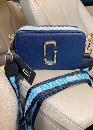 Женская сумка в стиле marc jacobs🔥синяя - голубая