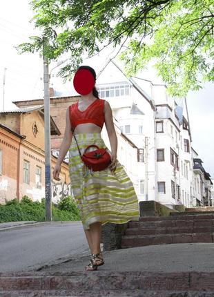 Жёлтая юбка andre tan