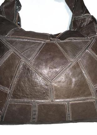 Стильная большая сумка натуральная кожа l credi