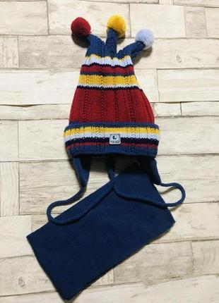Зимние шапки на завязках