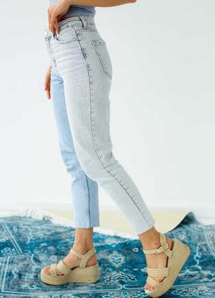 Двухцветные джинсы с высокой посадкой ❤️
