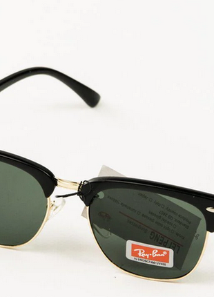Очки. солнцезащитные очки ray-ban клабмастер унисекс со стеклянной линзой