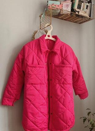 Куртка-рубашка стеганая в стилe zara