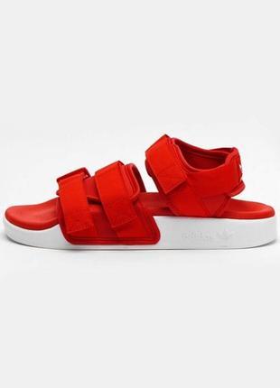Босоножки женские adidas adilette 1.0 красные / босоніжки сандалии сандалі адидас адідас