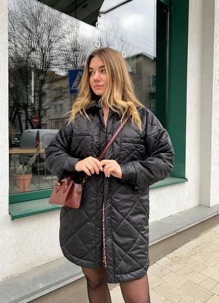 Крутая стеганая куртка zara