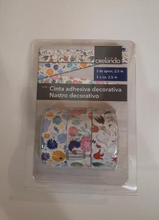 Скотч бумажный декоративный лента для упаковки подарков