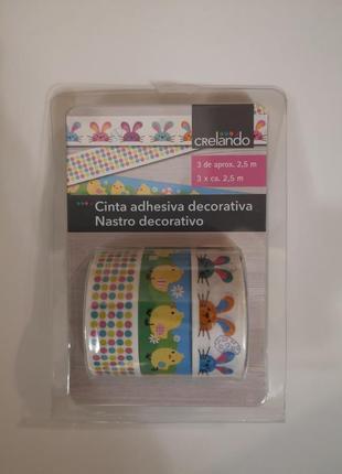 Скотч бумажный декоративный клейкая лента для упаковки подарков декорирования