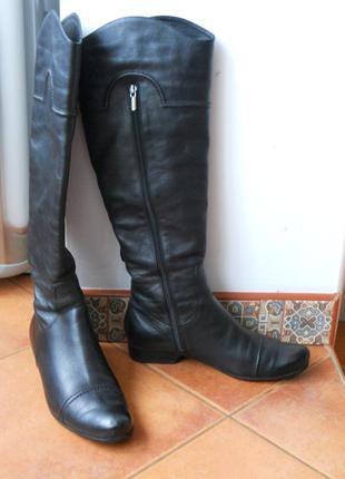 Сапоги кожаные, высокие,  практически ботфорты matti