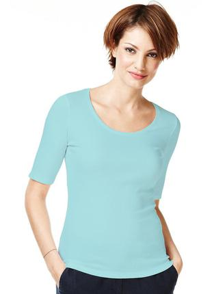 Marks&spencer. футболка с удлиненным рукавом. технология stay new.размер наш:  48/50