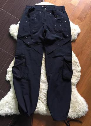 Классные штанишки/брюки с стразами cinema donna