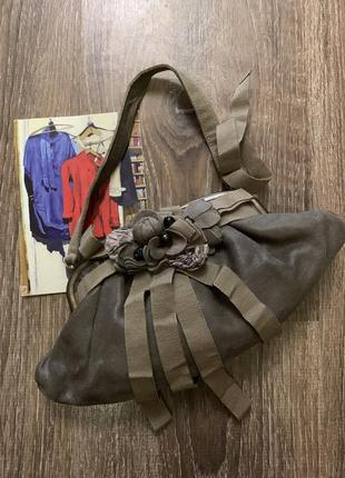 Итальянская брендовая сумочка кожа- rada borsa