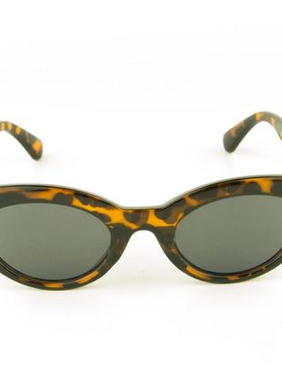 Солнцезащитные очки овальной формы - леопардовые