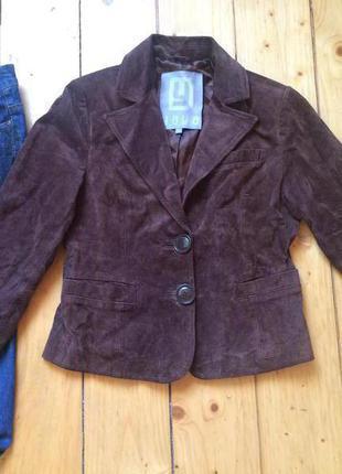 Замшевий пиджак натуральная замша
