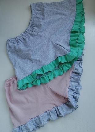 Домашние хлопковые шортики шорты