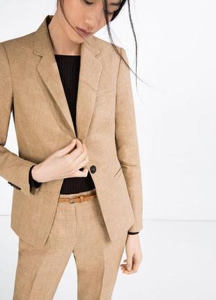 Льняной пиджак,блейзер zara