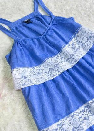 Нереально крутое платье сарафан с рюшами h&m,  м-л